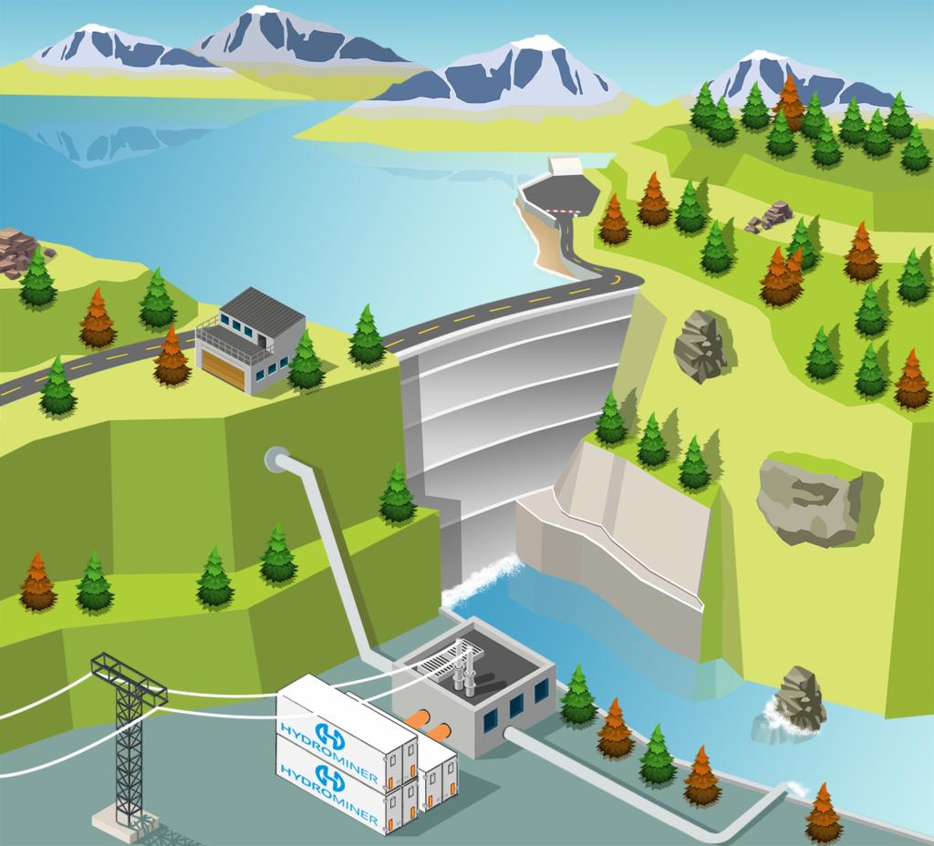 hydrominer cloud mining hydroelectricité
